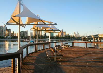 Shade Sails At Dawn Southport Gold Coast