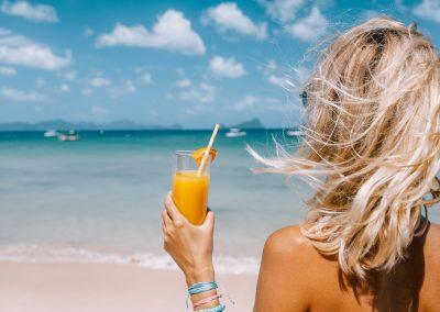 Gold coast beach drink