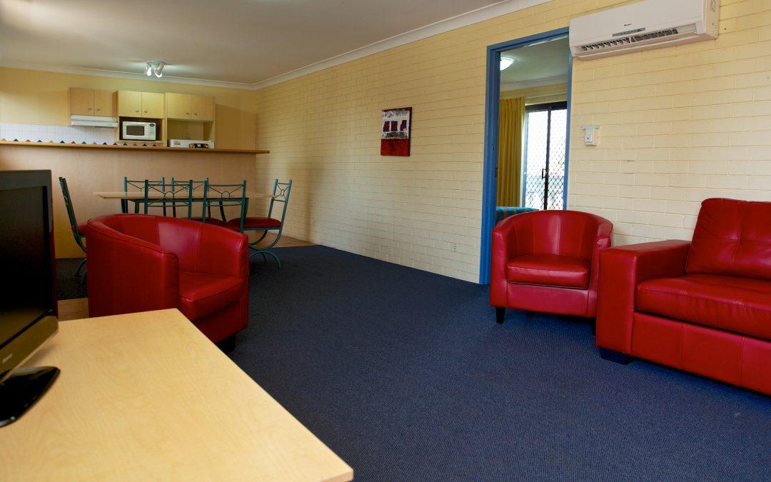 Harbourside Resort accommodation lounge